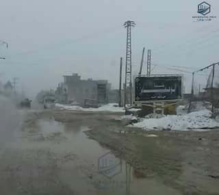 جولة لمراسل فرات بوست يوم أمس بريف ديرالزور أثناء هطول الثلوج في مختلف القرى و البلدات